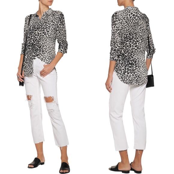 2d2bc50fbf3b Equipment Silk Slim Signature Leopard Print Shirt